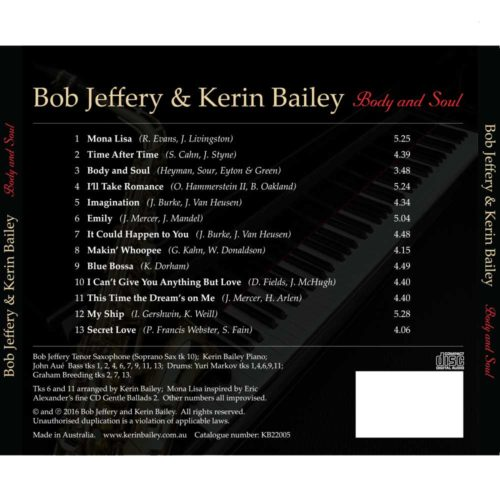 Body and Soul CD by Bob Jeffery & Kerin Bailey